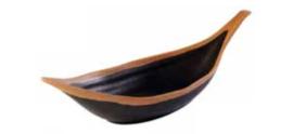 Bladschaal 'Crocker' 30,5 x 10 cm