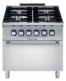 Electrolux gas fornuis met elecktrische oven 700XP. 4 open branders