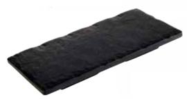 Melamine 'Slate Rock' 20 x 10 cm presenteer plateau