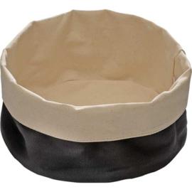 Katoenen broodmandje zwart