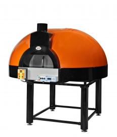 Pizza oven op hout met roterende vloer