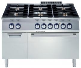 Electrolux gas fornuis met elektrische oven 700XP. 6 open branders