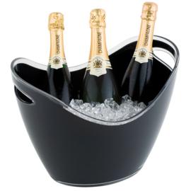 Eissens FSE wijn/ en champagne koeler zwart met handgrepen