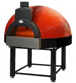 Pizza oven op gas en hout met roterende vloer