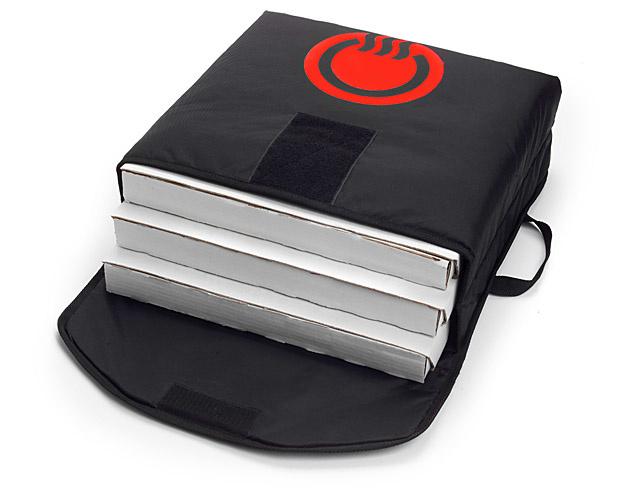 "CookTek VaporVent Pizza Bag 18"" zwart - complete set"