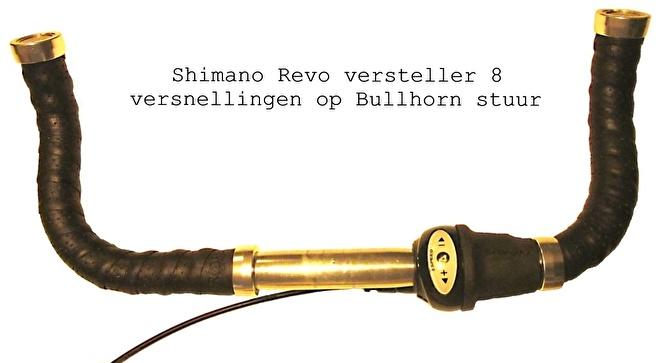 Poelman fiets Shimano Revo versteller op bull horn stuur