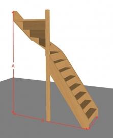 Bovenkwarttrap dicht van 254 t/m 294 cm