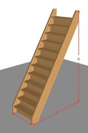 Steektrap dicht van 254 t/m 294 cm