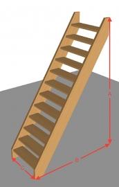 Steektrap open van 254 t/m 294 cm