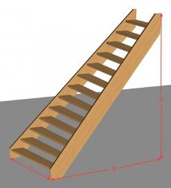 Scheluwtrap open van 254 t/m 294 cm