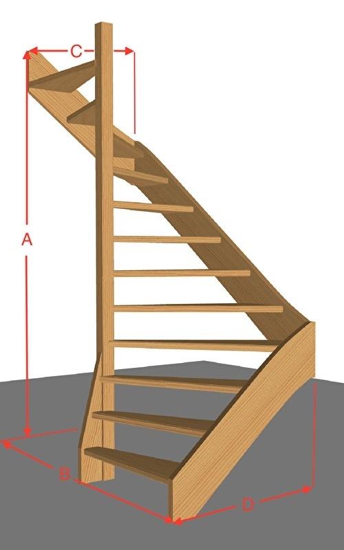 Halfslagtrap open van 254 t/m 294 cm