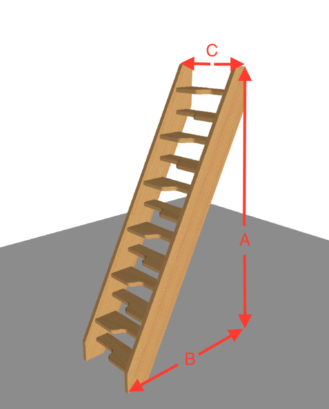 Ruimte besparende trap van 254 t/m 294 cm