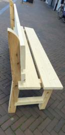 Massief houten bank, op maat gemaakt