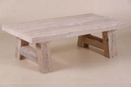 Stoere salontafel, greywash grenen  70 x 120 cm