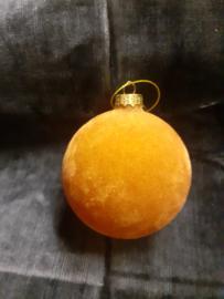Kerstbal Geel Fluweel