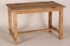 Eettafel van ' old look' grenenhout 80 x 120 cm