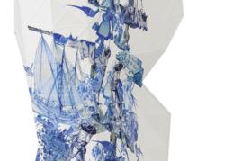 Paper Vase Cover - Delft Blue Icons