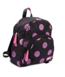 Rugzak (S) Girls Glitter Dot - Hotpink (Merk: Zebra)
