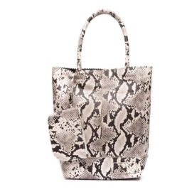 Natural Bag Kartel Snake Python - White