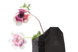 Paper Vase Cover - Black (Zwart)