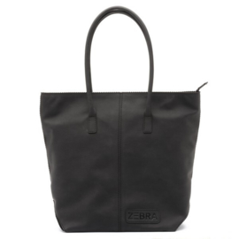 Natural Bag Kartel met Rits - Black
