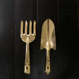 Goudkleurige tuingereedschap set van Esschert Design