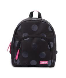 Rugzak (S) Girls Glitter Dot - Black (Merk: Zebra)