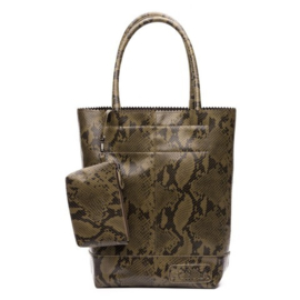 Natural Bag Kartel Snake Python - Army Green