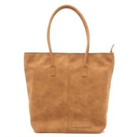 Natural Bag Kartel met Rits - Camel