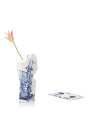 Paper Vase Cover - Delft Blue Icons