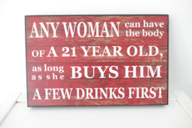 ANY WOMAN ......