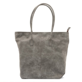 Natural Bag Kartel met Rits - Grey
