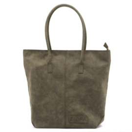 Natural Bag Kartel met Rits - Army Green