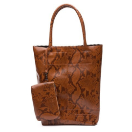 Natural Bag Kartel Snake Python - Camel