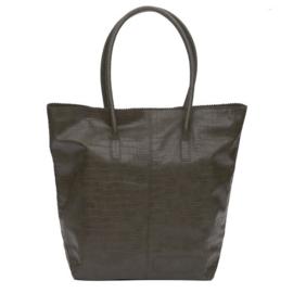 Natural Bag Kortel Croco - Army Green