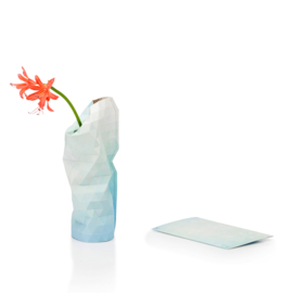 Paper Vase Cover - Blue Tones (Small)