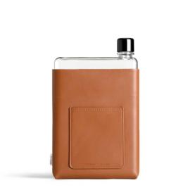 Cognac Kleurige Lederen Sleeve voor de Memobottle A5