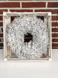 Krans Iron Bush 35 cm White Snow
