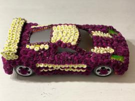 Bloemen auto