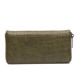 Natural Bag - Luxe Wallet - Croco - Army Green