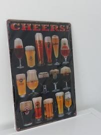 """Tekstbord """"Cheers"""""""