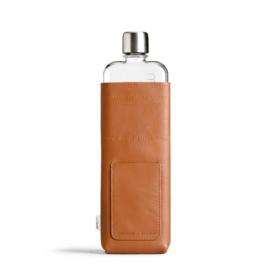 Cognac Kleurige Lederen Sleeve voor de Slim Memobottle