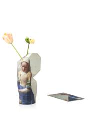 """Paper Vase Cover - """"Milkmaid"""" by Vermeer"""