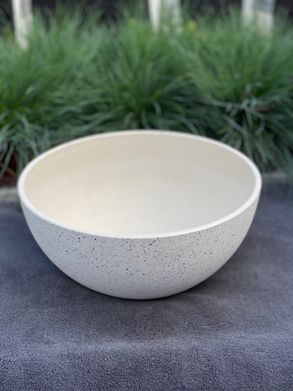 Bowl Nova concrete white D25 H12