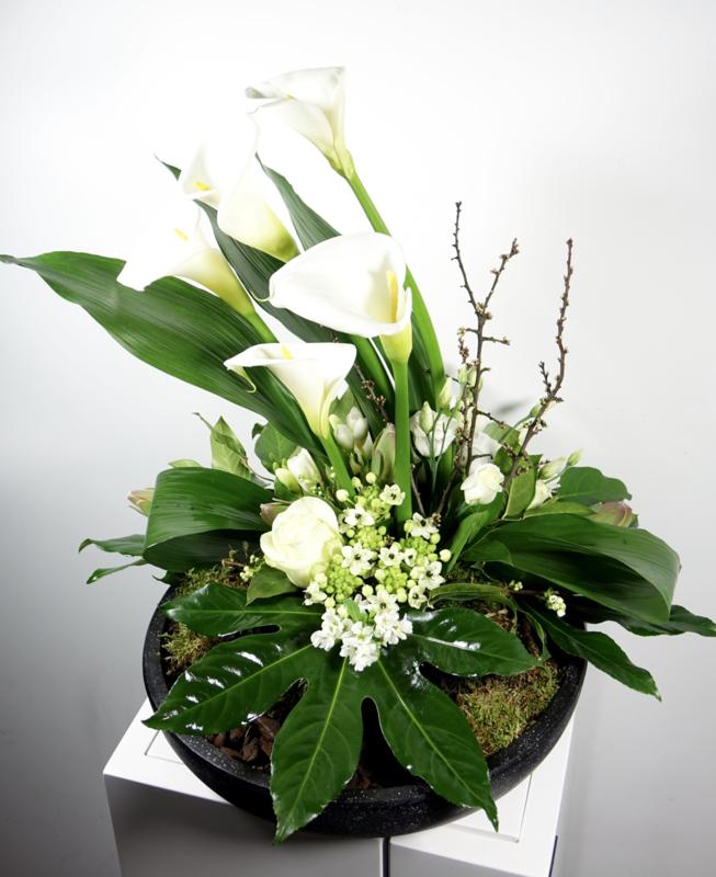 Impressie van bloemstukken, veelal vrije opdrachten.