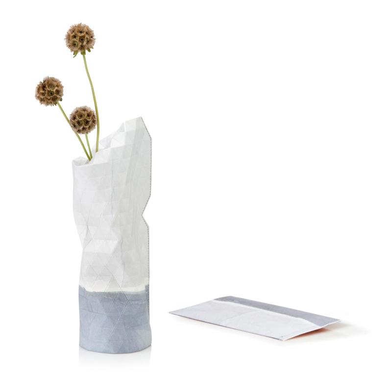 Paper Vase Cover - Watercolor White (Small)