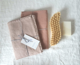 Cafe creme kitchen towel linen