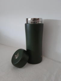 Thermosbeker forest green met theefilter, 300 ml