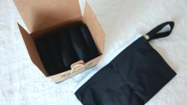 Herbruikbare inlegkruisjes zwart, 1 - 5 stuks
