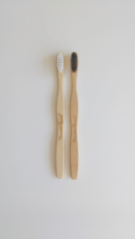 Humble brush tandenborstel zwart/wit/roze